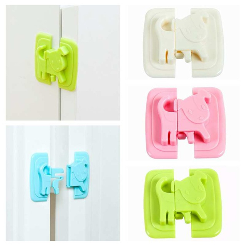 1pc Baby Safety Cartoon Shape Kids Baby Care Safety Security Cabinet Locks & Straps Products For Fridge Door Cabinet Locks