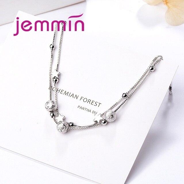 925 Bracelet à breloques en argent Sterling pour femmes filles mariage fiançailles mignon romantique Style étoile forme meilleur cadeau pour bien-aimé