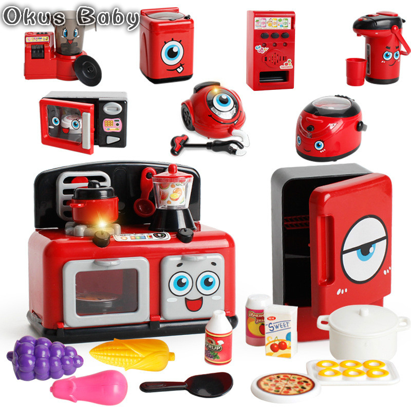 2019 Electric Microwave Oven Appliance Toy for Kitchen Housekeeping Role Pretend Play Game Developmental Game Children Kids Toys|Kitchen Toys|   - AliExpress