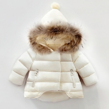 ФОТО new baby girl thickness warmer down jacket for girl fashion kids winter jacket manteau fille hiver hooded girls winter coat