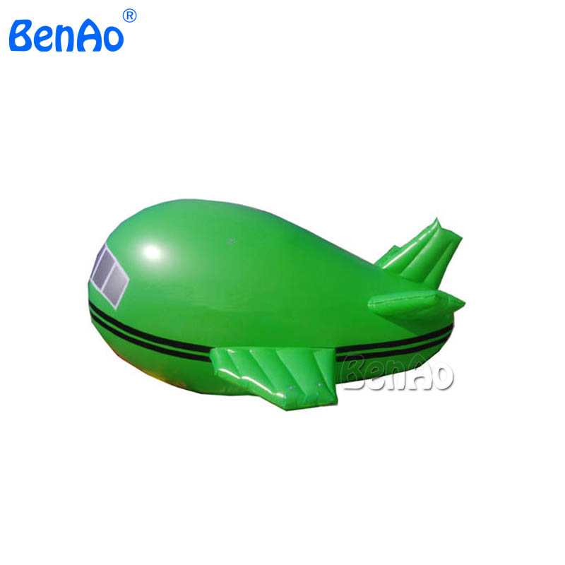 AO010  4m PVC Tarpaulin Inflatable Outdoor Advertising Balloon Inflatable Advertising Air Plane/airship/blimp/zeppelin hb15 wholesale price pvc 3m long inflatable airplane airship blimp zeppelin with tail black air plane