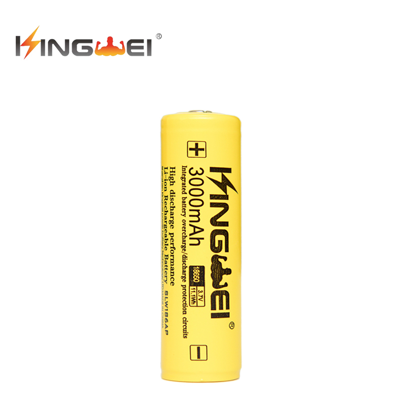 Hot 18650 Battery 3.7v 3000mah KINGWEI PCB Lithium Batteries Li-Ion Rechargeable Batery Protected For Flashlight LED Laser PEN