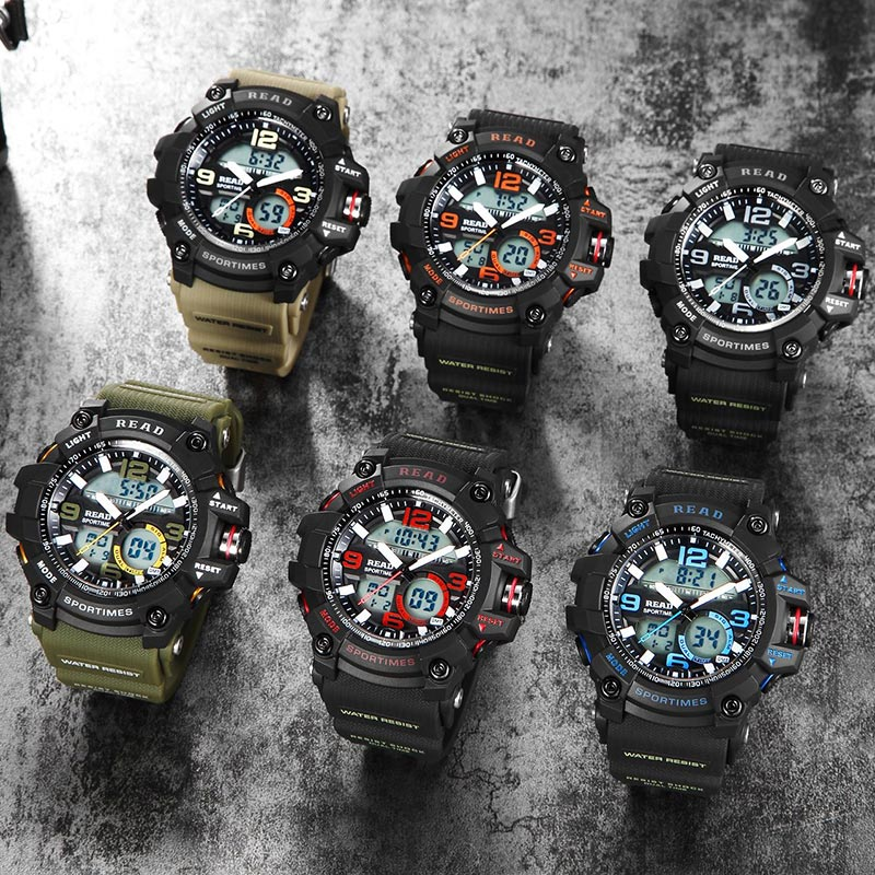 read large mens watch g style clock alarm army military quartz men wrist watches large dial. Black Bedroom Furniture Sets. Home Design Ideas