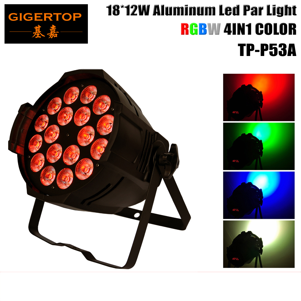 TIPTOP 18x12w 4IN1 Led Par64 Light RGBW Color Mixing Led Par Can DMX512 4/8CHs Led Stage Effect Light No Water Proof Type  tiptop sunny 512 dmx stage light controller black color dmx in out equipped led lamp optical isolated independent drive