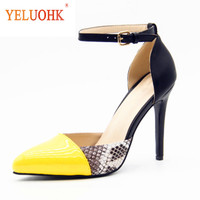 34 43 Extreme High Heels Big Size Sexy Women Heel Shoes 11 CM Lolita Shoes Women Heels Genuine Leather