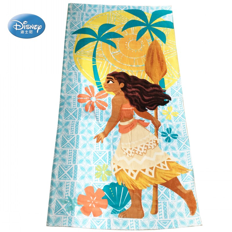 Baby Care Ambitious Disney Moana Teal Floral Kids Bath/pool/beach Towel Super Soft Absorbent Fade Resistant Cotton Girls Kids Thick Towel 75x150cm Towels