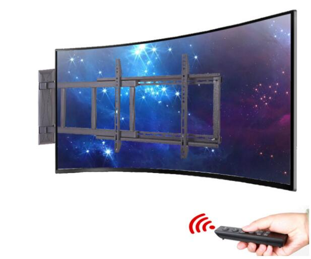 Intelligent électrique télécommande LCD rotatif surface plate support mural multi-fonction mince TV rack TV support 32-70 pouces