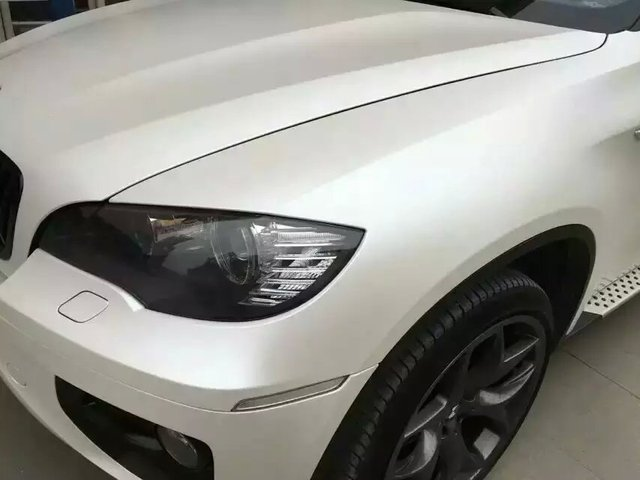 Premium White Pearl Matte Vinyl Wrap Car Wrapping With Air
