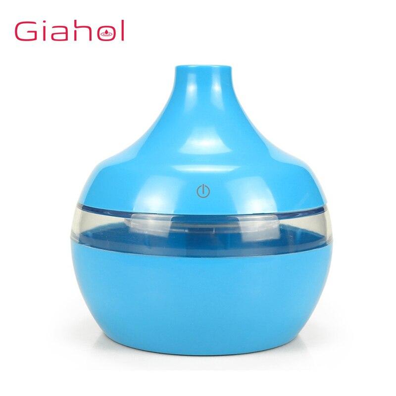 Giahol 300ml difusor de aroma de óleo essencial usb desligamento automático purificador de ar umidificador de ar 7 luzes led coloridas para escritório em casa