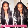 """7A бразильский виргинский волосы прямые бразильский виргинский прямые волосы гало леди человеческие волосы Extensions1 пучок 32 """" 34 """" 36 """" 38 """" 100 г/шт."""