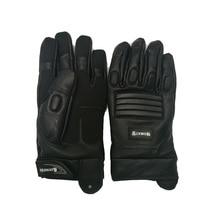 Men's Full finger Genuine Leather Sheepskin Gloves Real Fur