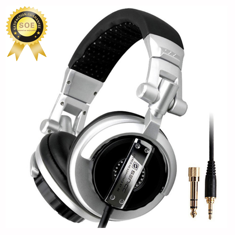 Dj headphones Noise canceling headphone with rotated ear cap have high quality sound Hifi bass music portable headphone stereo 4
