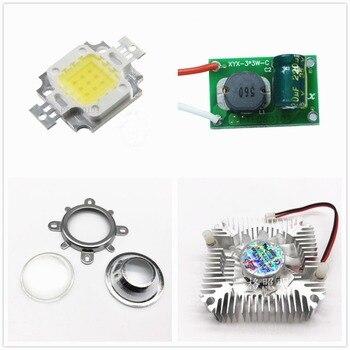 Round hole 44mm Lens kit + 10W Cool White / warm whtie LED + 10Watt Driver + 10w Heatsink DIY