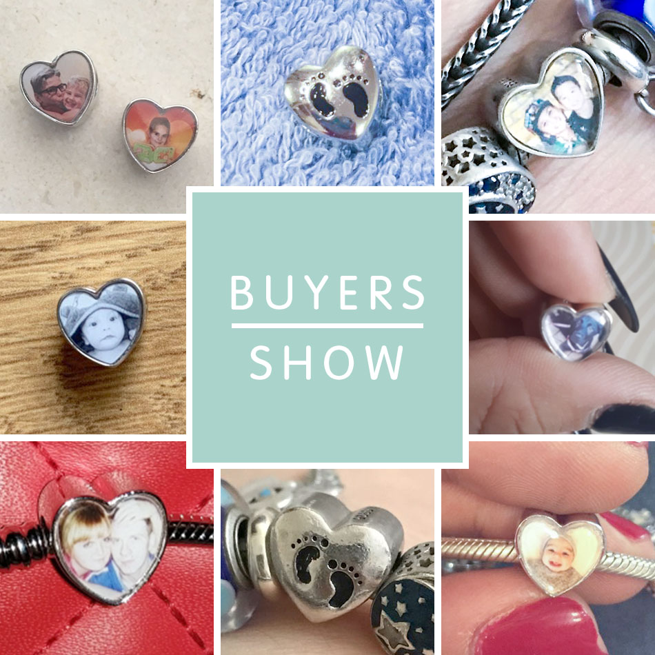 Custom Year Stainless Steel Heart Bead Charm 7 Number