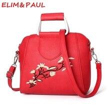 ELIM & PAUL Luxus-handtaschenfrauen-designer Shell Hohe Qualität Pu-leder Taschen Frauen Leder Handtaschen Rot Grau Damen handtasche