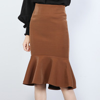 Autumn New Fashion Women Skirt Sexy High Waist Fishtail Skirts Womens