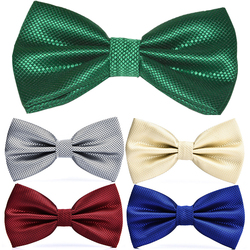 RBOCOTT 23 Colors Solid Fashion Bow Tie Men's Plaid Bowties Red Blue Green Silvery Gray For Men Women Wedding Accessories 1