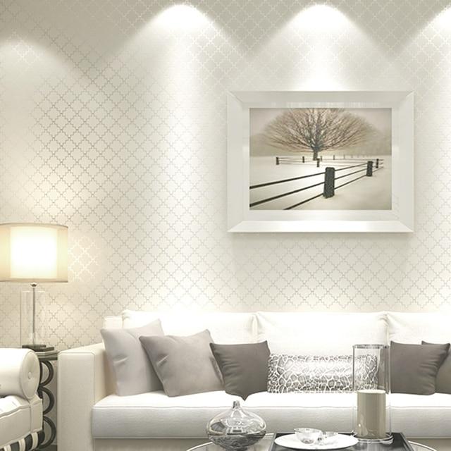 Buy non woven fabric lattice stripe for Wall covering paper