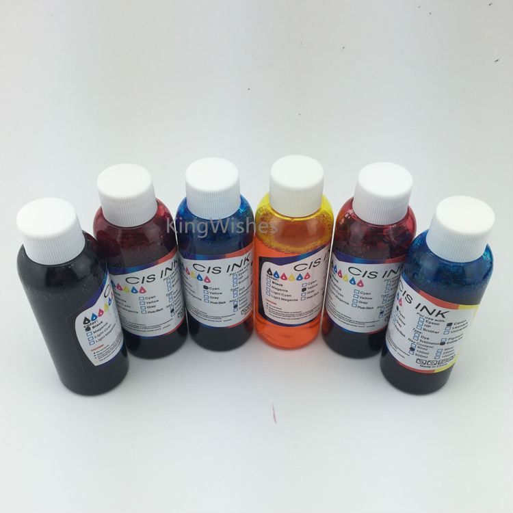 6PCS x 100ML T0771 T0772 T0773 T0774 T0775 T0776 Edible Ink For Epson R260 R380 R280 RX580 RX680 RX595 A50 Printer full ink 6 pcs ink cartridge t0771 t0772 t0773 t0774 t0775 t0776 for epsonr260 r380 r280 rx580 rx680 rx595