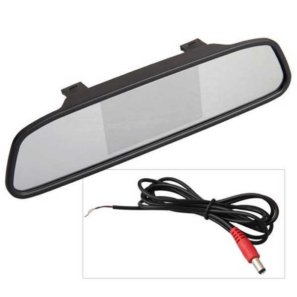 شاشة عرض إل سي دي 4.3 بوصة ، شاشة مرآة الرؤية الخلفية للسيارة للسيارة مع مدخل فيديو ثنائي الاتجاه DVD/VCR/كاميرا عكسية للسيارة A20