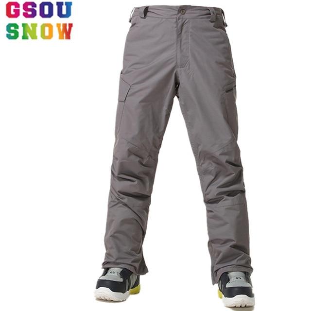 f9ec25d4a5 GSOU SNOW Brand Ski Pants Men Snowboard Pants Winter Waterproof Mountain Skiing  Trousers Windproof Outdoor Sport