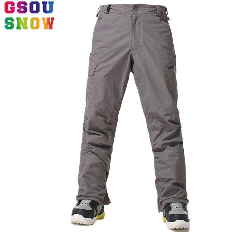 GSOU pantalon de Ski de marque neige hommes pantalon de Snowboard hiver imperméable pantalon de Ski de montagne coupe-vent Sport de plein air Ski de neige