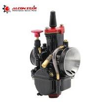 Alconstar-высокое качество мотоцикла карбюратор PWK карбюратора косо PWK 28 мм 30 мм 32 мм 34 мм Fit 100cc чтобы 450cc все мотоцикл