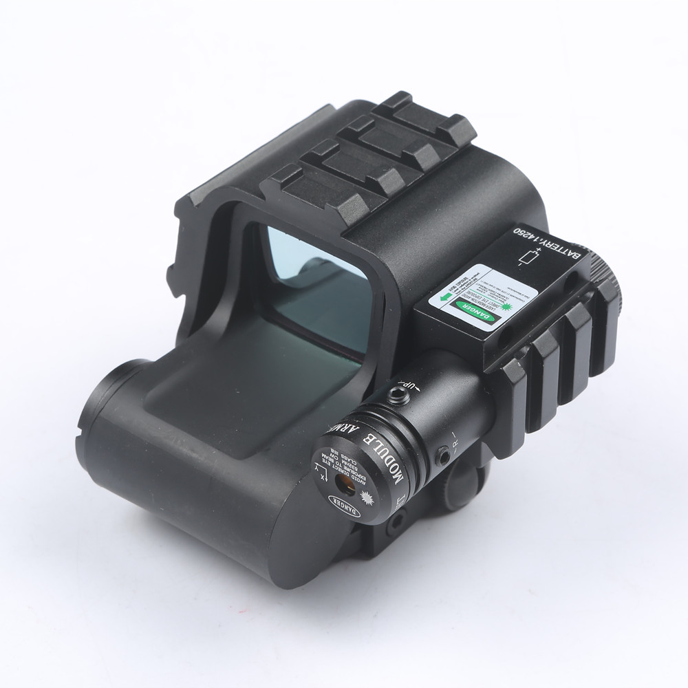 Tactical Holographic HD553G Reflex Sight with Green Laser Scope Red and Green Dot Reflex Sight With 20mm Rail weaver For Hunting hunting tactical reflex green red dot sight scope