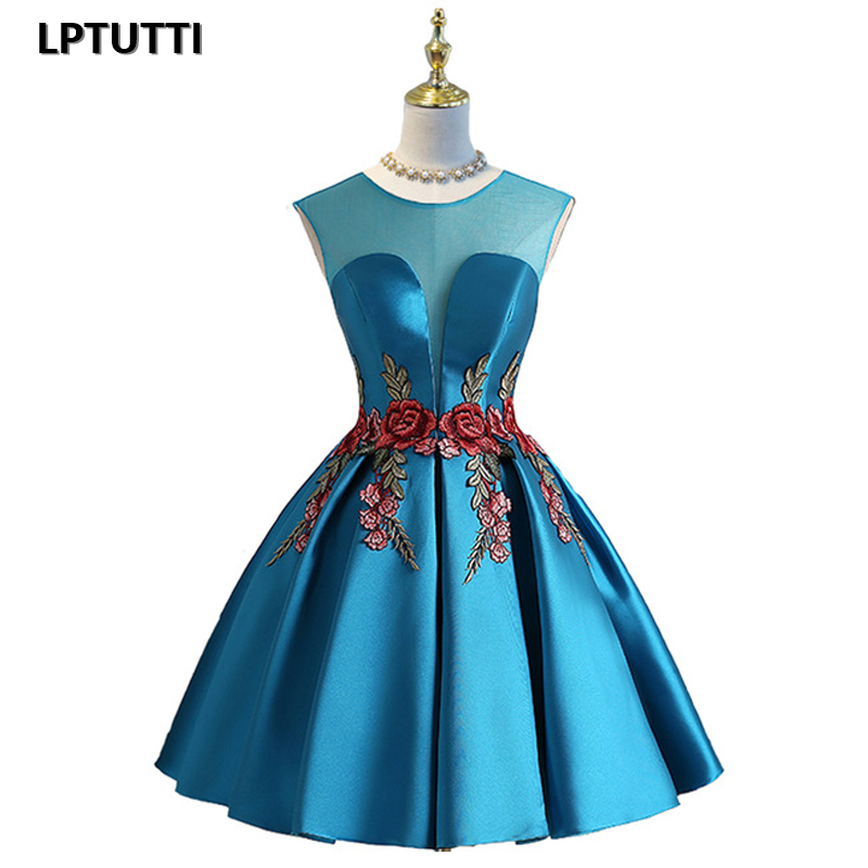 LPTUTTI Embroidery New Woman Plus Size Social Festive Elegant Formal Prom Party Gowns Fancy Short Luxury Cocktail Dresses