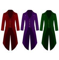 Men's Outwear Steampunk Vintage Tailcoat winter military Jacket Gothic Victorian Frock Coat Batman Uniform Costume 4XL Size Plus