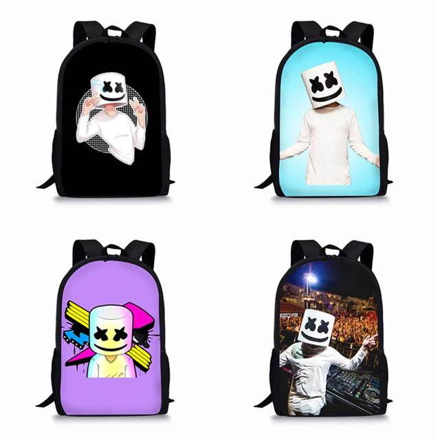 School Bag for Kids Boy Girls Backpack 3D Marshmello Printing Backpack  Female Schoolbag School Supplies Satchel 1f30c00545a37