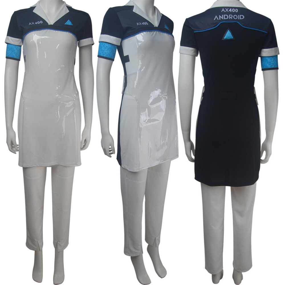 Detroit: Become Human cosplay Kara costume housekeeper android Halloween make-up costume Sci-Fi comic-con suit X'mas birthday