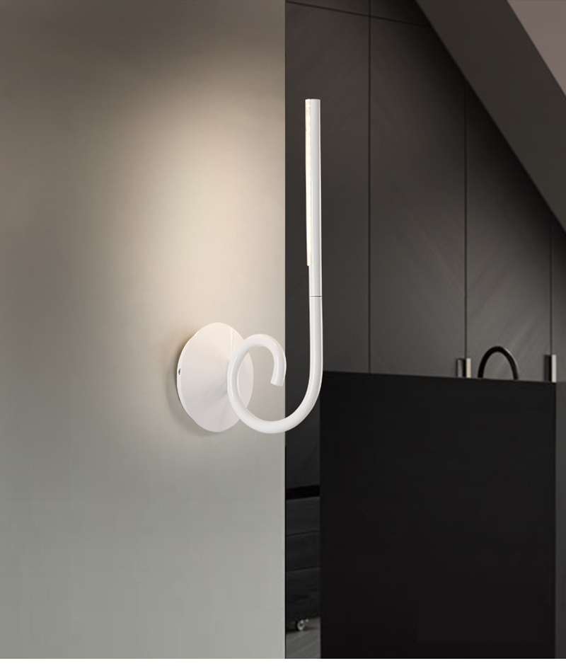 ФОТО strip design LED Bathroom Light Wall Decor Sconces high power 7W White led wall light mirror light Bedside lamp reading lighting