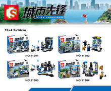 swat 4pcs/set TS11301-11304 Military Series  Special police squad Army Weapon Bricks Military assembly building blocks toy