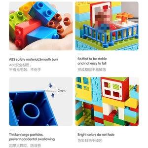 Image 5 - Big Size Building Blocks Compatible Duploedd 160 211pcs Amusement Park Marble Run Building Building Blocks Toys For Children