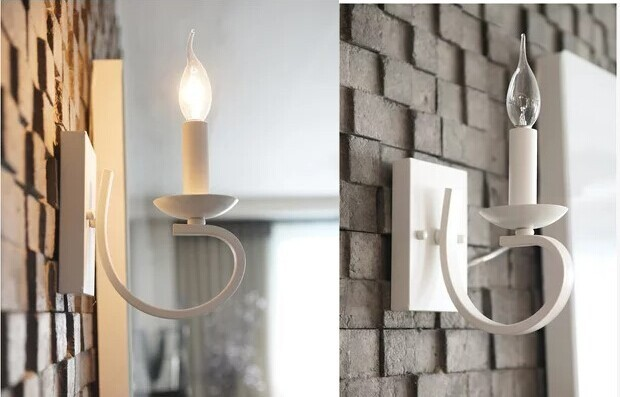 ФОТО LED Metal Wrount Vintage Wall Lamp With 1 Light,Home Indoor Lighting Wall Sconces Arandela Lampara De Pared,E14 bulb included