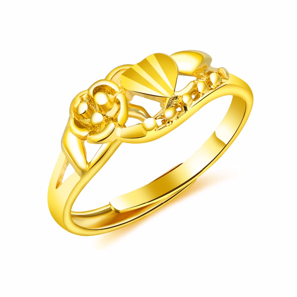 Gold-plated gold rings in Europe and the United States are full of womens ring