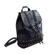 Модные заклепки сумка на молнии женские кожаные рюкзак, рюкзак, путешествия, школьные сумки на плечо сумка Mochila Feminina
