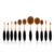 Pro 10 unids/set + 1 Unid Oval cepillo de Dientes Forma de Cepillo Del Maquillaje Fundación Make Up Brushes Kit de Oro Rosa de Alta Herramientas de Belleza de calidad