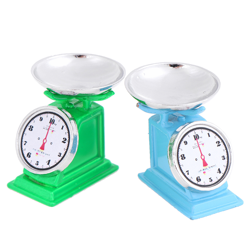 1:12  Dollhouse Mini Scale Kitchen Market Furniture Kid Toy Decor Blue Green