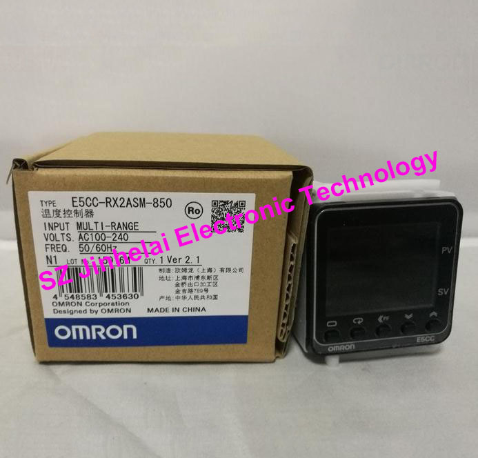 Authentic original OMRON Digital temperature controller E5CC-RX2ASM-850 AC100-240V omron original authentic 100% new e5cc rx2asm 880 electronic temperature controller digital display temperature controller