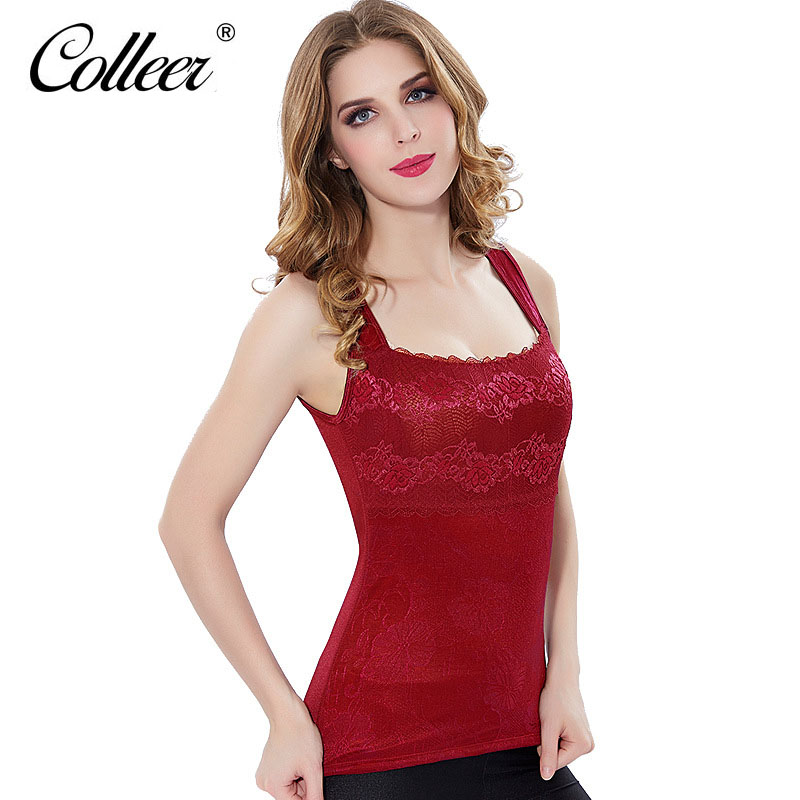 74a0562a82 COLLEER Thicker Cotton Plus Velvet Winter Womens Thermal Top Seamless  Bodycon Sexy V-neck Lace Warm Thermal Underwear