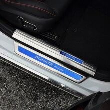 High QualtiyStainless steel scuff plate door sill strip car pedal welcome pedal for Hyundai Sonata  accessories
