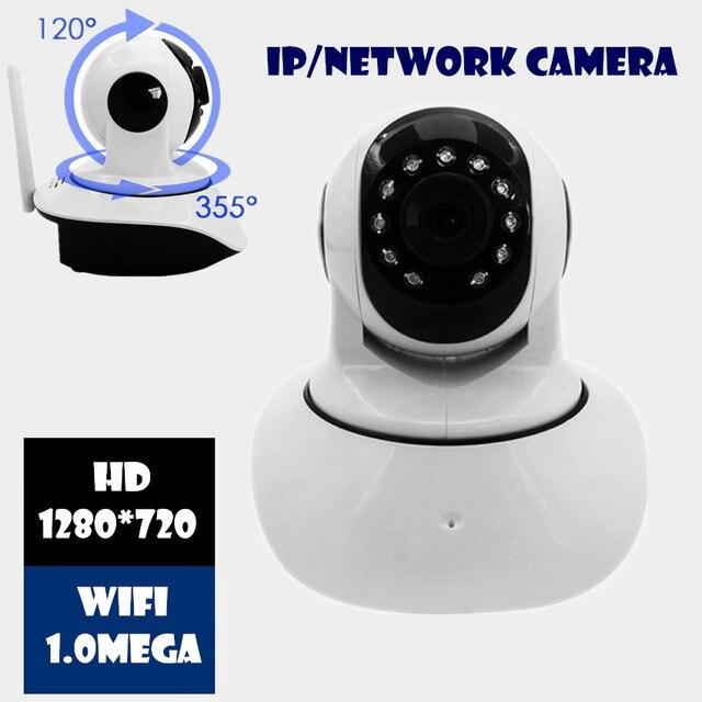 Беспроводная Ip-камера 720 P 1.0 М wi-fi КАМЕРА HD Мега Onvif P2P Тревоги БЕСПЛАТНОЕ ПРИЛОЖЕНИЕ Network IR-CUT Ночного Видения записи PT