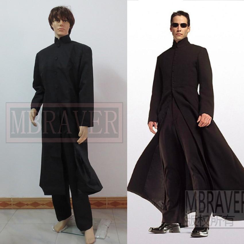 The Matrix Neo Long Black Coat Cosplay Costume-in Movie