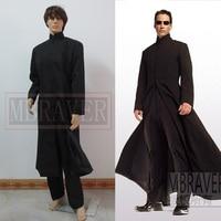 The Matrix Neo Long Black Coat Cosplay Costume