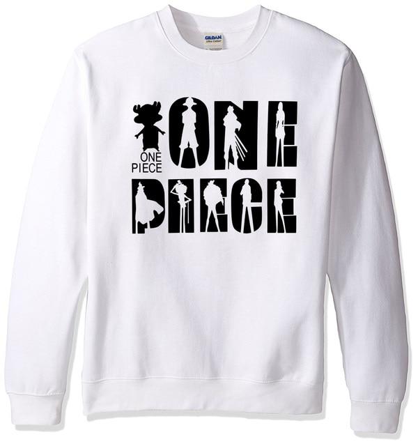 Anime One Piece Hipster Streetwear Fleece O-neck Men's Hoodie
