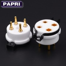100 brand New High quality K8A Gold Plated 8pin ceramic tube socket Audio Parts For 300B