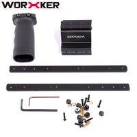 Trabalhador modificado brinquedo acessórios pull-down kit para nerf retaliador peças pretas para modificação