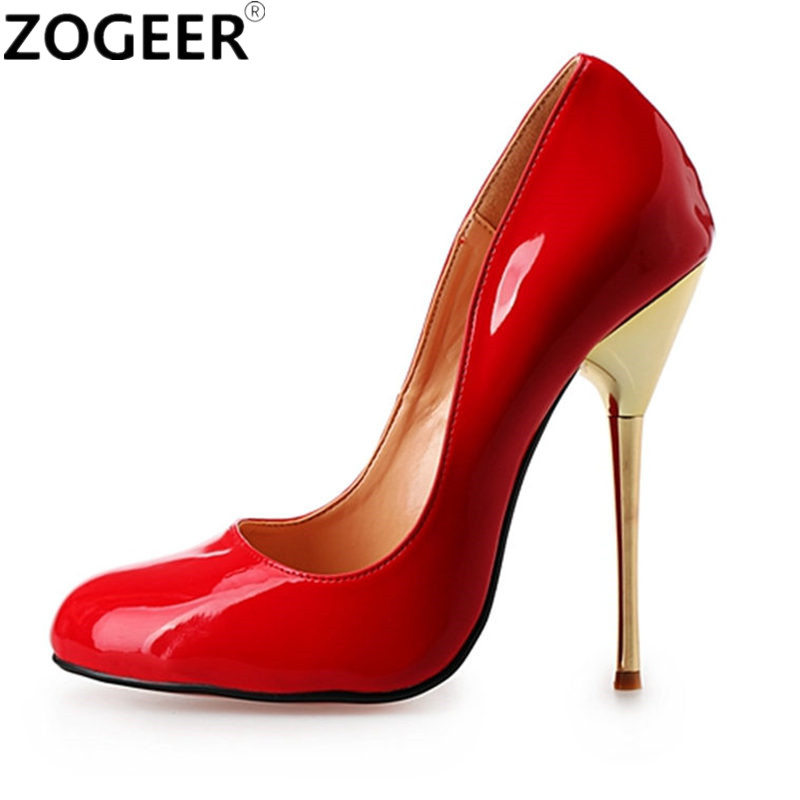 Plus Size 48 Fashion Pumps Women Sexy Extremely High Heels Shoes Bridal Red Nude Ladies Wedding Party OL Office Shoes цены